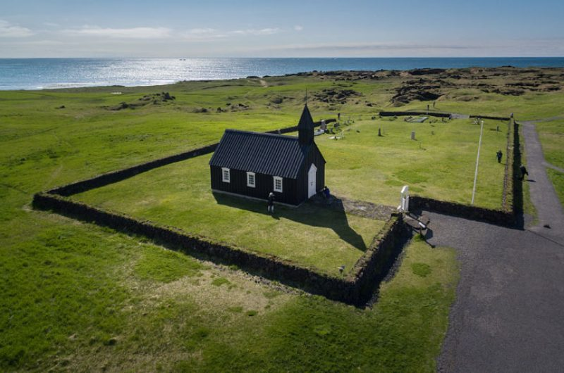 iceland snaefellsnes budir church summer rth