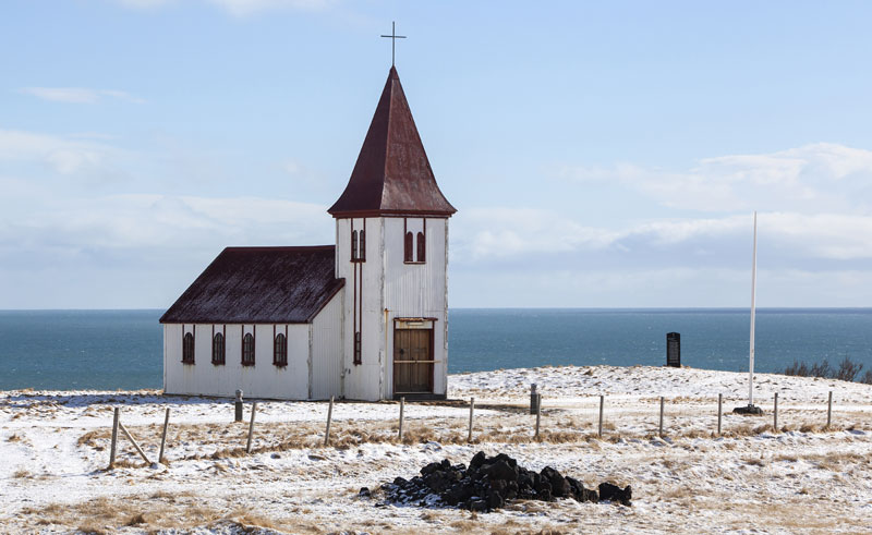 iceland snaefellsnes hellnar church winter istock