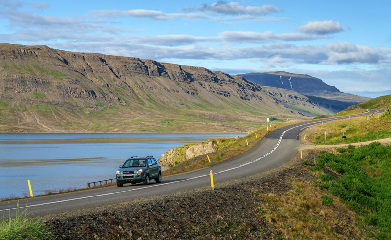 iceland south west driving hvalfjordur rth