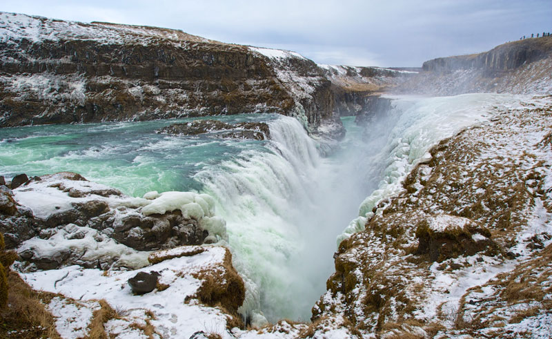 iceland south west golden circle gullfoss winter do