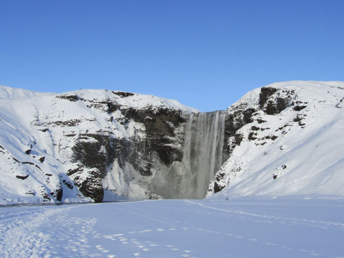 iceland south west skogafoss winter ap