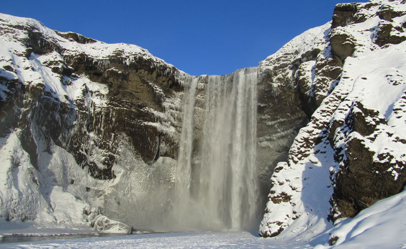 iceland south west skogafoss winter dd