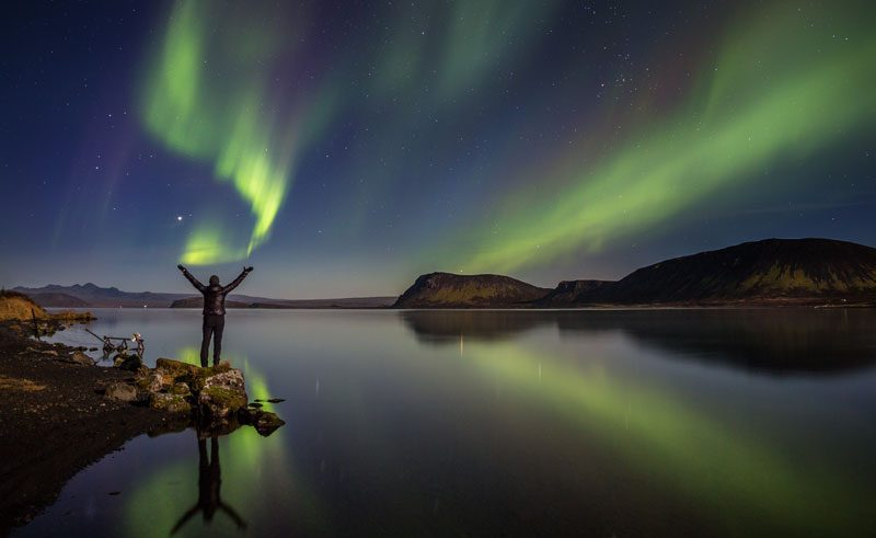iceland south west thingvellir northern lights rth