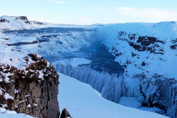 iceland south west winter gullfoss pixabay