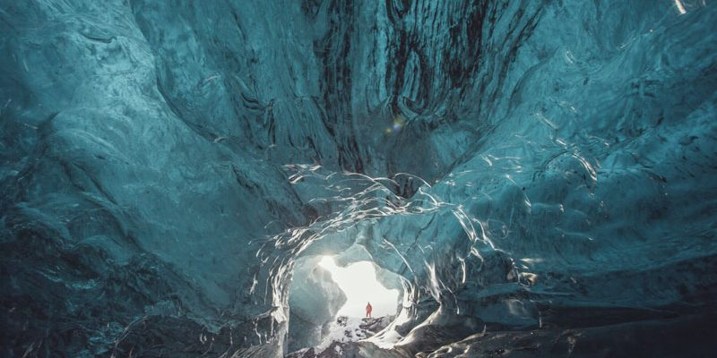 iceland southeast ice cave river aa