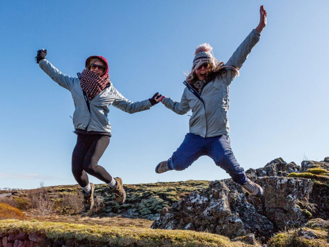 iceland teenagers enjoying thingvellir rth