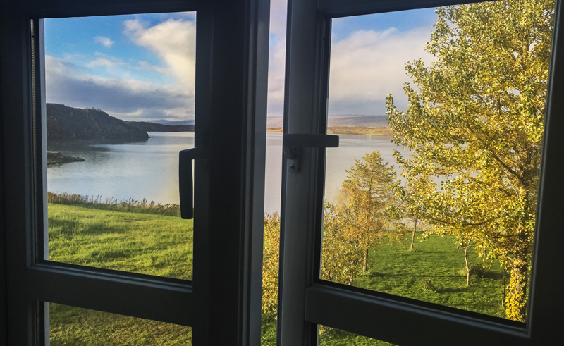 lake hotel egilsstadir view from window rth