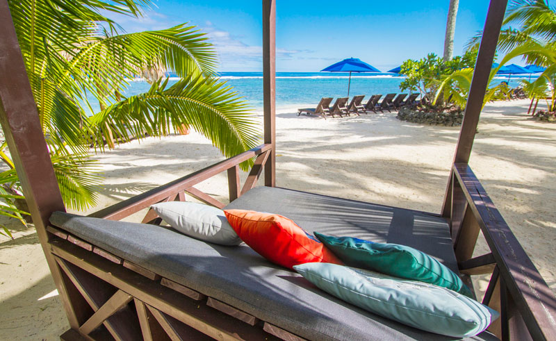 manuia beach resort day bed