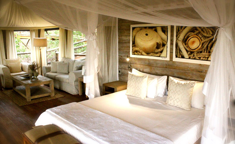 nambwa tented lodge bedroom interior