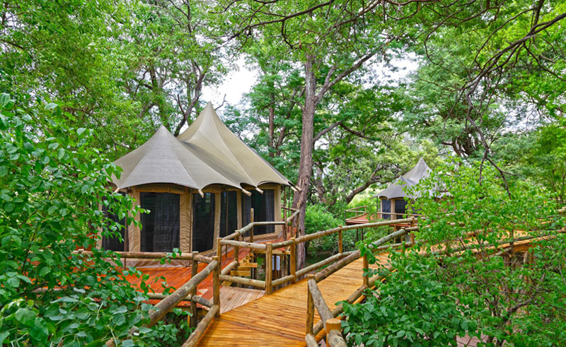 nambwa tented lodge exterior