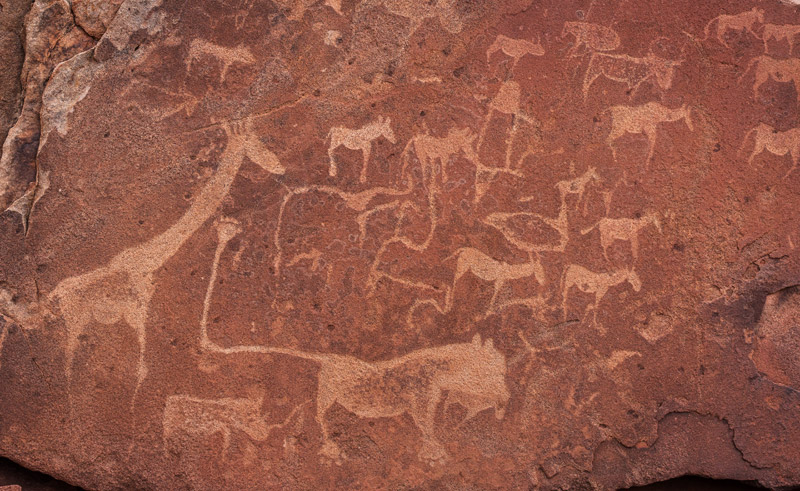 namibia twyfelfontein rock paintings rth