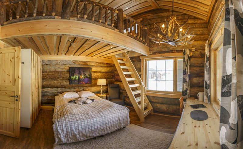 nellim log cabin interior rth