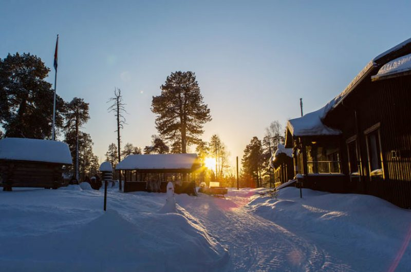nellim wilderness resort outside sunset