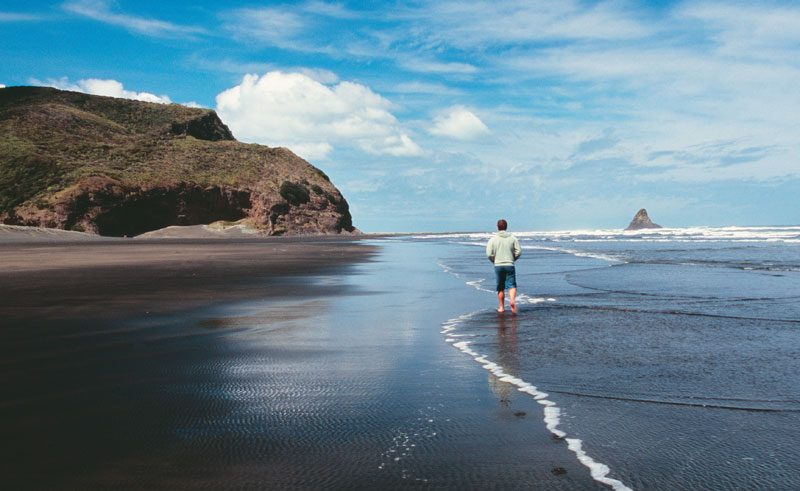 new zealand auckland karekare beach tnz