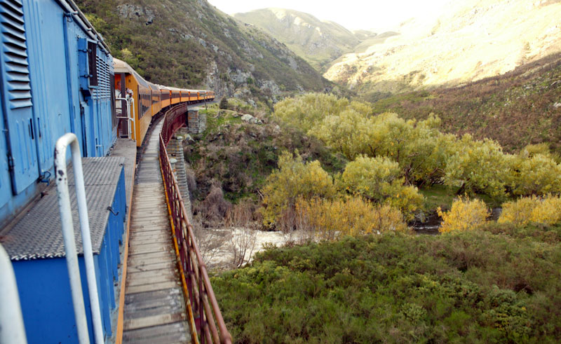 new zealand dunedin taieri gorge train td