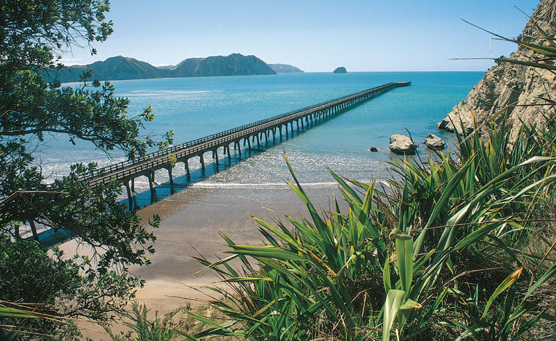 new zealand east cape tolaga bay wharf tnz
