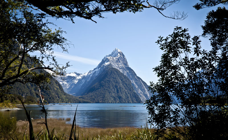 new zealand fiordland milford mitre peak df