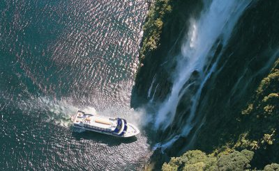 new zealand fiordland milford sound waterfall rj