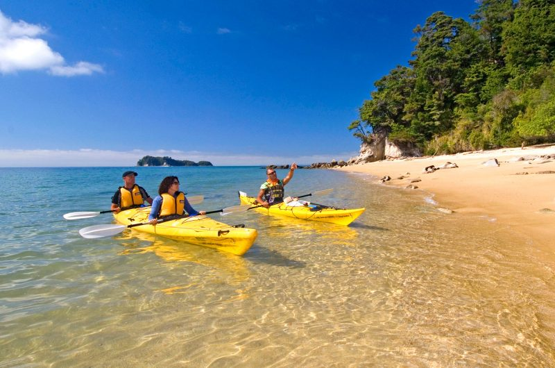 new zealand kayaking abel tasman national park ntt