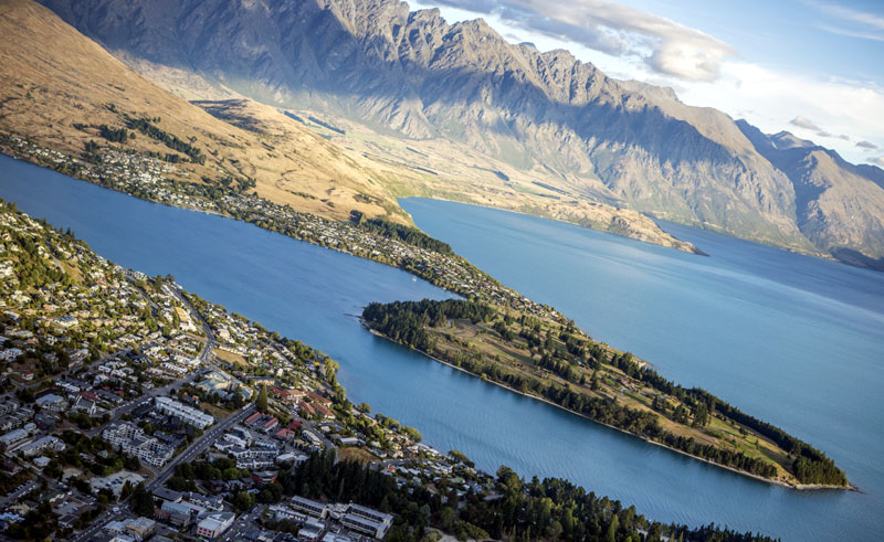 new zealand queenstown aerial view ga