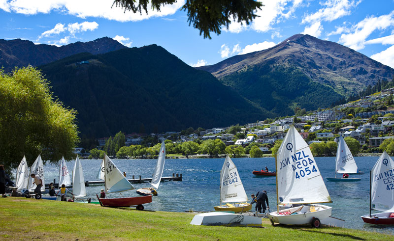 new zealand queenstown lake shore sailing slt