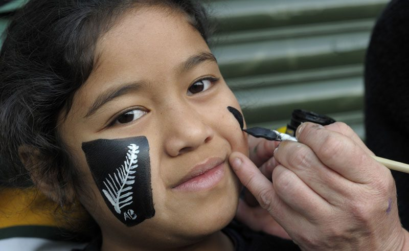 new zealand silver ferns face painting tnz