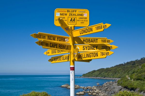 new zealand southland signpost stirling point vs