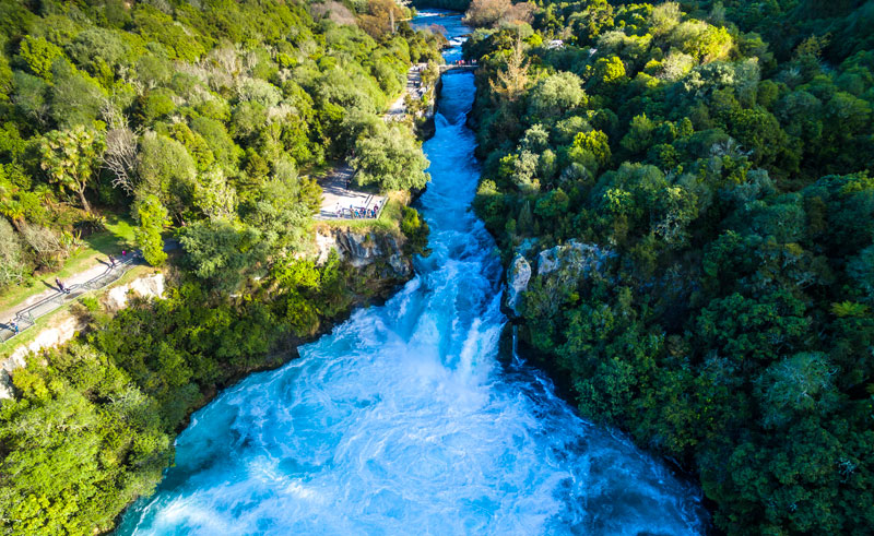 new zealand te huka falls is
