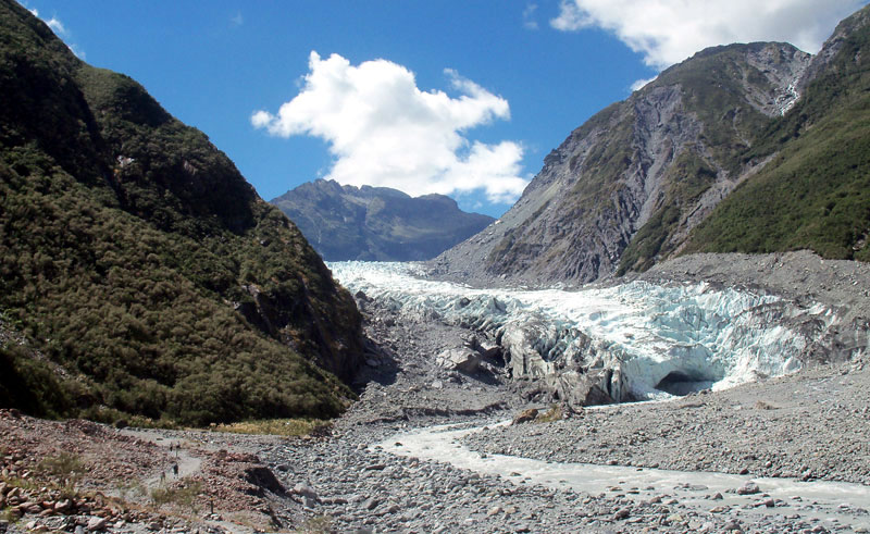 new zealand west coast fox glacier approach ba