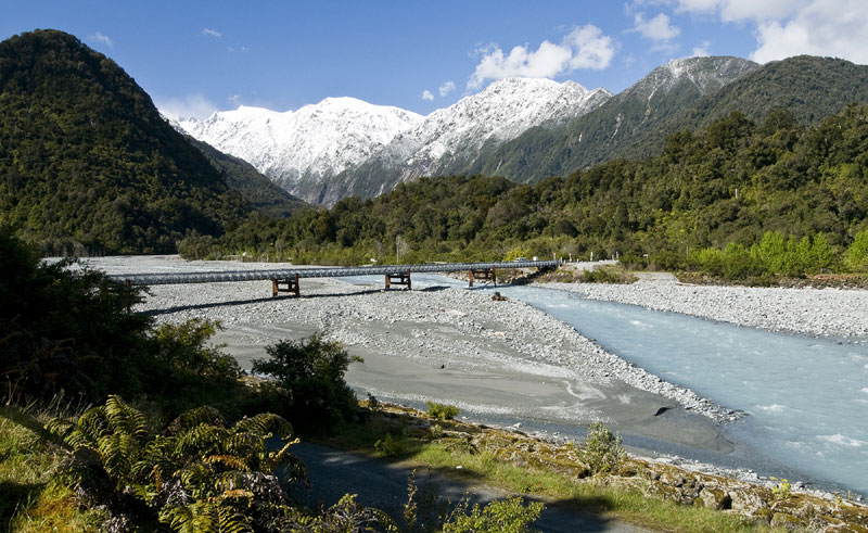 new zealand west coast franz josef glacier river twc