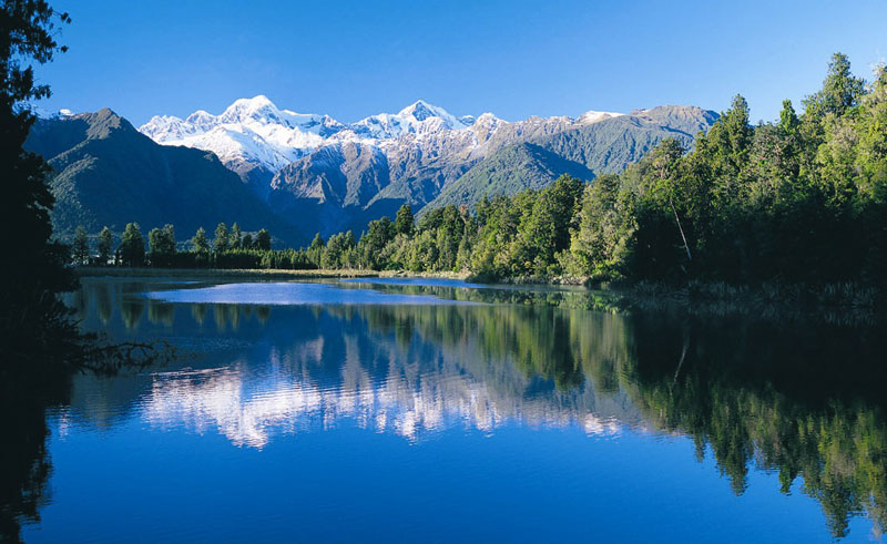 new zealand west coast lake matheson twc