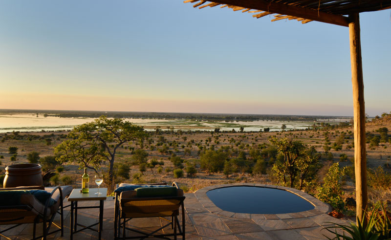 ngoma safari camp plunge pool