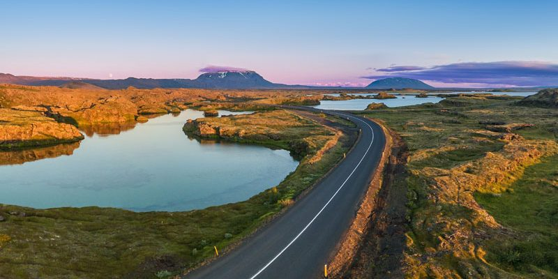 north iceland lake myvatn road summer rth