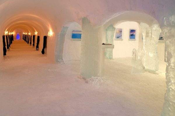 northern norway alta sorrisniva igloo hotel corridor bl