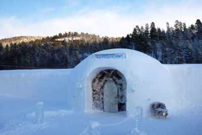 northern norway alta sorrisniva igloo hotel entrance