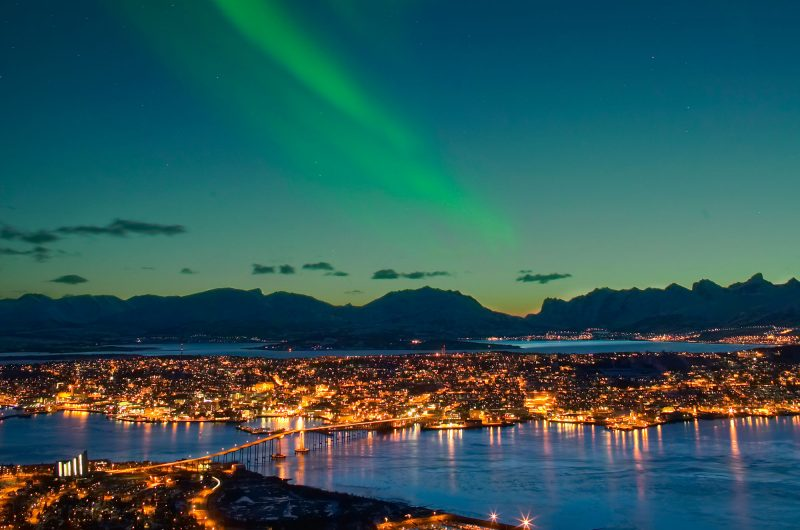 northern norway aurora over tromso vn