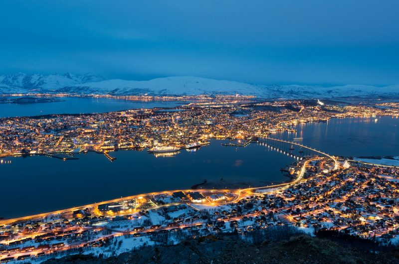 northern norway tromso evening lights adstk