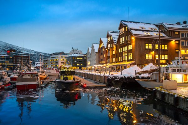 northern norway tromso winter harbour adstk