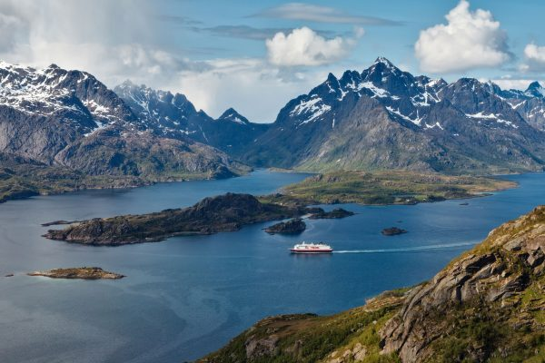 norway aerial view coastal voyages hurtigruten