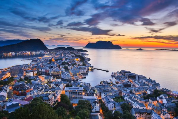 norway bergen alesund sunset view istk m