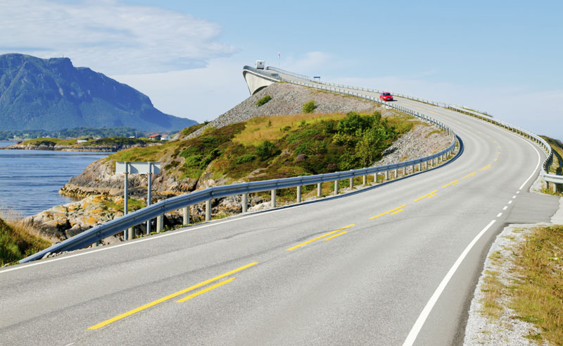 norway fjords atlantic road storseisundet bridge istock
