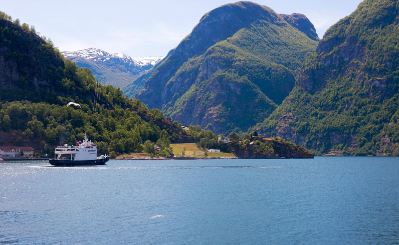 norway fjords aurland ferry is