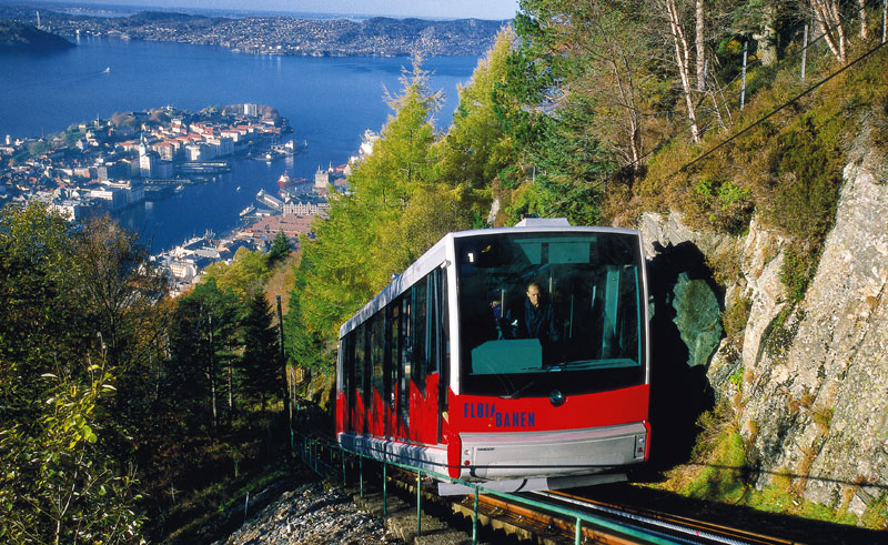 norway fjords bergen funicular vb