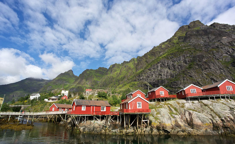 norway lofoten coloured houses ap