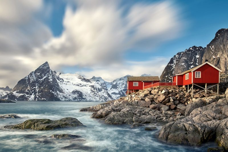 norway lofoten hamnoy winter rorbuer adstk