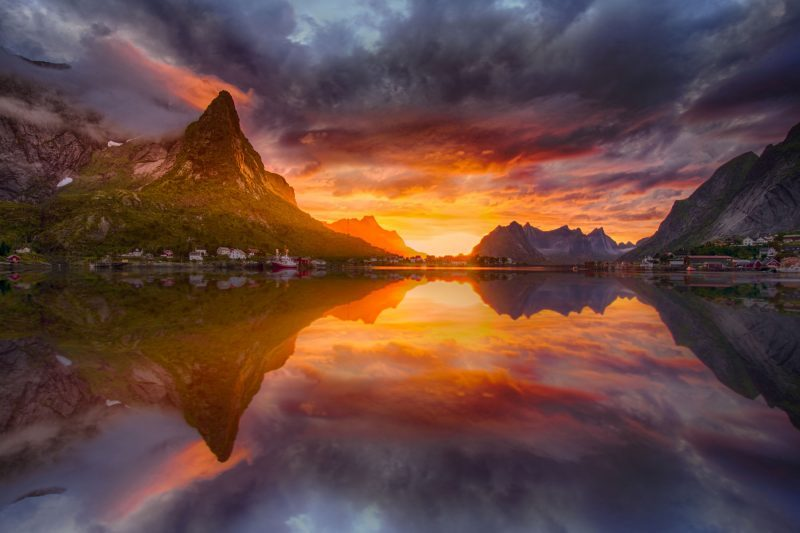 norway lofoten midnight sun vnor m