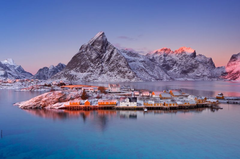 norway lofoten reine winter istk
