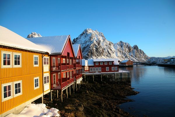 norway lofoten svolvaer winter adstk m