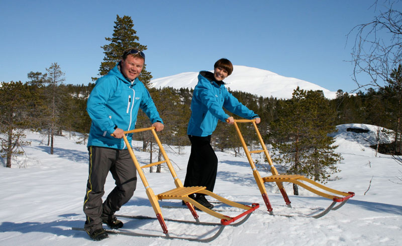 norway north balsfjord malangen kicksled