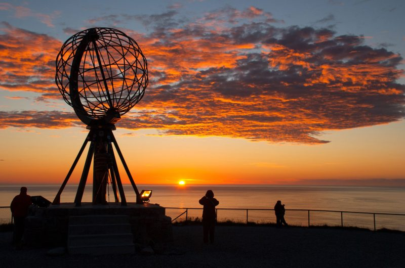 norway north cape globe midnight sun istk
